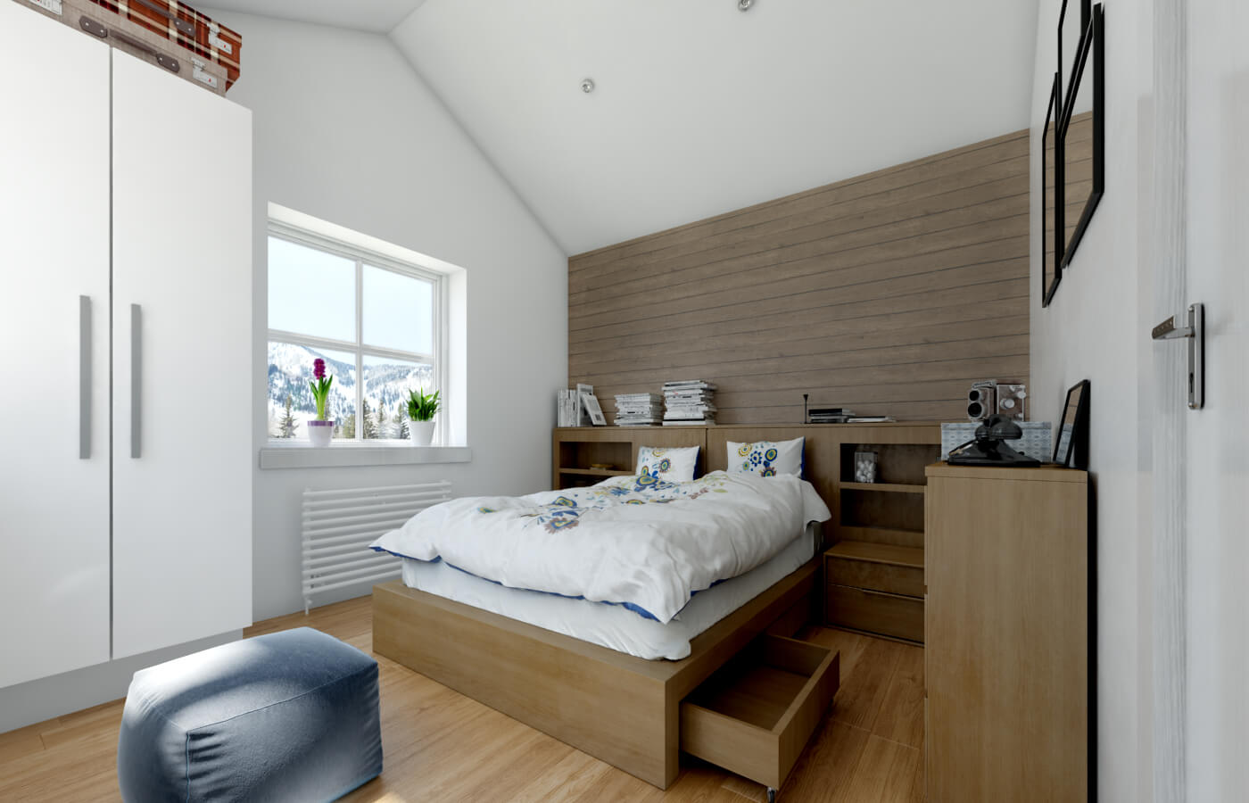 Masterbedroom som ger lugn.